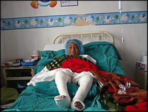Arturo dans sa chambre d'hôpital