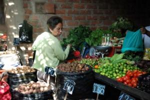 Rosario au marché de La Esperanza